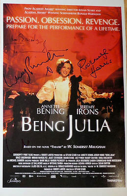 Ambitious Jeremy Irons Lucy Punch & Rosemary Harris Signed 11x17 Poster @ Exact Proof Soft And Antislippery Entertainment Memorabilia Posters