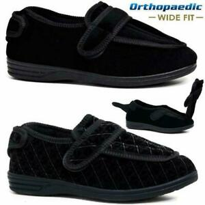 MENS-DIABETIC-ORTHOPAEDIC-EASY-CLOSE-WIDE-FITTING-STRAP-SLIPPERS-SHOES-SIZE-6-14