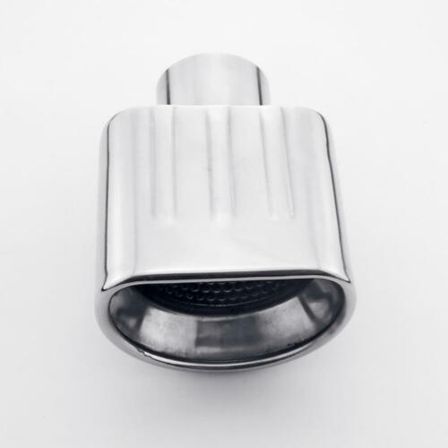 Resonated Straight Cut Semicircle Outlet 304 Stainless Steel Exhaust Tip