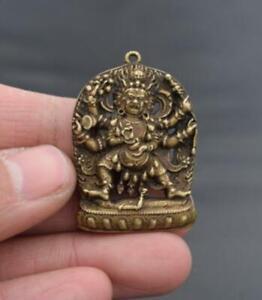 China/'s archaize brass Sakyamuni Buddha Small pendant