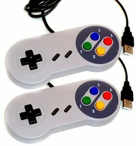 2-x-Retro-Super-Nintendo-SNES-USB-Controller-Jopypads-for-Win-PC-MAC-Gamepads