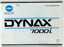 """MINOLTA Bedienungsanleitung """" DYNAX 7000i """" User Manual Anleitung (X2355"""