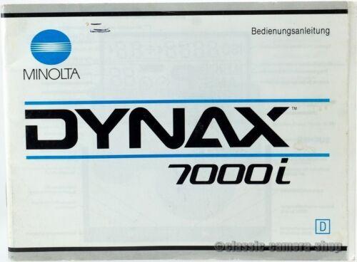 """x2355 Minolta manual de instrucciones /""""Dynax 7000i/"""" User Manual instrucciones"""