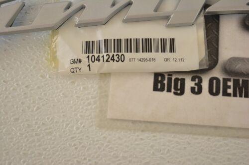 GM Genuine 10412430 Door Name Plate Front