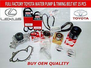 new toyota lexus v6 full toyota oem timing belt kit 3 0 v6 3mzfe image is loading new toyota lexus v6 full toyota oem timing