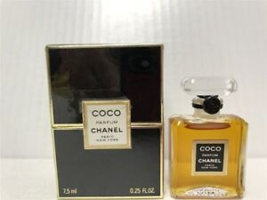 Coco-by-Chanel-0-25-oz-7-5ml-Parfum-for-Women-Classic-Formula-Not-Sealed