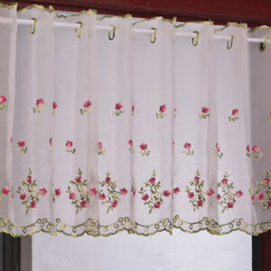 Details about Net Curtains Kitchen Jacquard Short Curtain Living Room  Bedroom Curtain Supplies