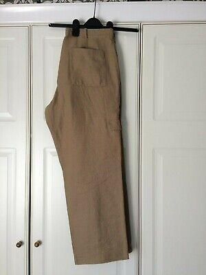 Men's Clothing Disciplined M&s Sp Linen Trousers Casual,combat,cargo 34w Clothes, Shoes & Accessories