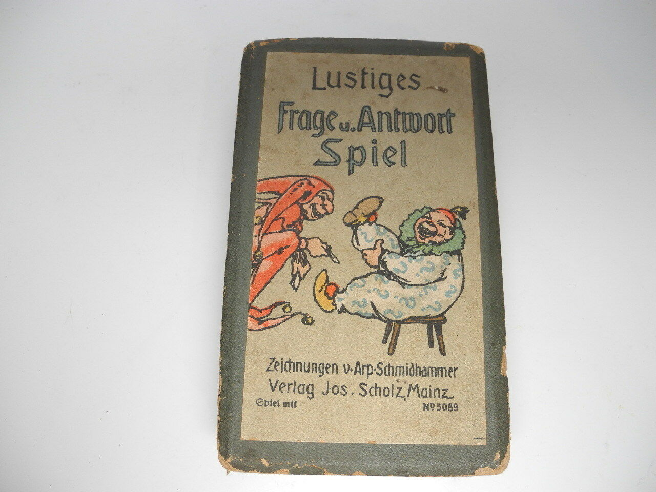 Vintage 1930's German Question & Answer Game