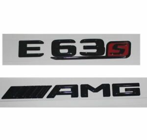 Gloss Black E63s Letters Trunk Emblem Badge Emblems for Mercedes Benz E63 AMG S