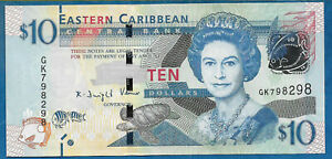 East Caribe Nd2016 10 Dolares (s/c)