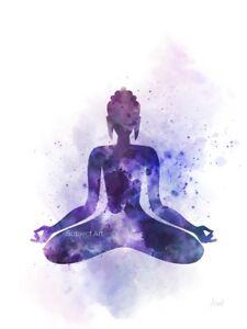 Details about ART PRINT Buddha illustration, Yoga, Wall Art, Religion,  Watercolour, Gift