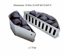 Gas Grill Replacement Parts Charcoal Briquet Holders Weber 7403 2 Pack Silver