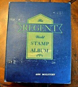 CatalinaStamps-Regent-World-Stamp-Album-Grossman-1958-w-3500-Stamps-D28