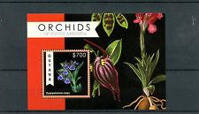 Guyana 2012 MNH Orchids of South America 1v S/S Flowers Flora Zygopetalum