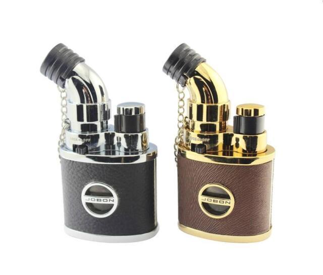 Jobon Torch Flame Cigarette Lighter Jet Butane Gas Cigar Lighter With Lock