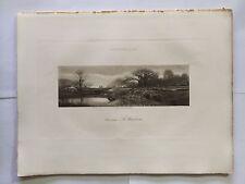 GRAVURE HELIOGRAVURE GEORGES PETIT 1904 DECAMPS LE BAT L'EAU CHASSE