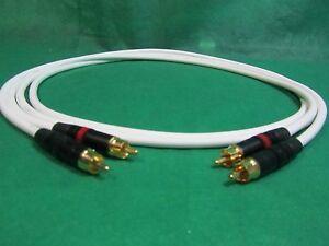 1.5 Ft Pair Canare L4E6S Green Star Quad RCA to RCA HIFI Audio Cable.