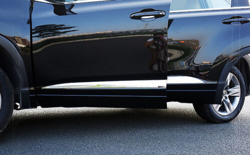Chrome Body Door Side Molding Cover Trim Garnish For Toyota Highlander 2015-2017
