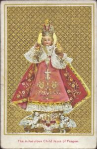 Prag-Jesus-Nino-Cuadro-Santos-Amria-Imagen-Milagrosa-Bohemia-Koloriert-B-6674