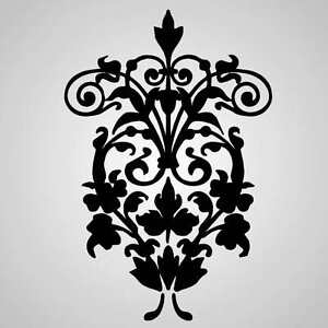 B2 BAROQUE ORNAMENT Reusable Stencil A3 A4 A5 Romantic Shabby Chic Craft