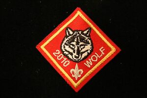 Cub scout wolf rank patch 2010 pre-owned a00628 | ebay.