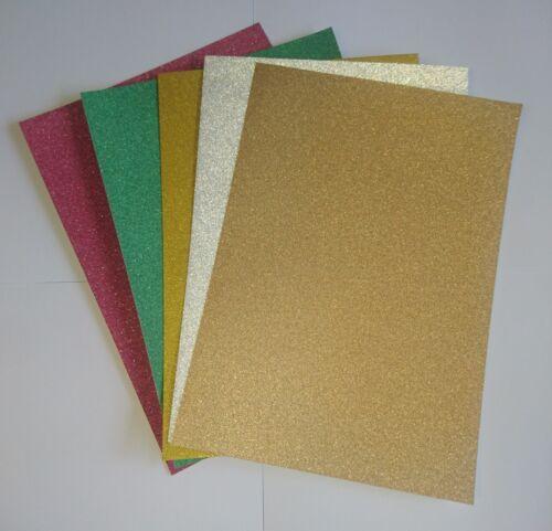Paillettes Carte A4 Zero cabane de Noël Pack de 25 rouge vert argent or Light Gold