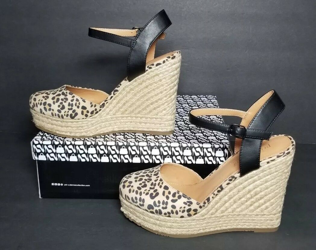 PRIMAfemmes COLLECTION femmes EURO Taille 37 US Taille 6.5 LEOPARD NEW   BOX 46102
