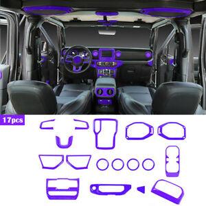 Interior Decoration Cover Trim Accessories kit For Jeep Wrangler JL 18+ Purple