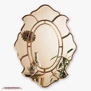 Gold Oval Accent Wall Mirror Decorative Oval Mirror For Wall Peruvian Mirrors Ebay