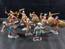 "LOUIS MARX 1963 6"" FIGURES EGYPTIAN,ROMAN,VIKING WARRIORS & KNIGHT VINTAGE LOT"