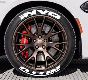 "Hankook Tires White Letters >> Tire Stickers- NITTO INVO - 1.25"" For 19"" 20"" 21"" Wheels - (8 decals) 