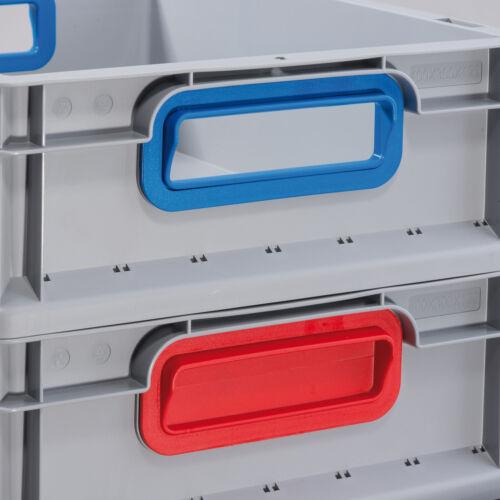 Allit EuroBox 412 Größe 400 x 300 x 120mm Griffegeschlossen grau 456700 rot