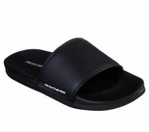 hommes noir et pour blanc sport confortables Sandale décontractées tongs Skechers q8w7xP0aFn
