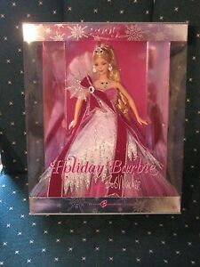 2005 RED DRESS HOLIDAY SPECIAL EDITION BLONDE HAIR BARBIE BY DESIGNER BOB MACKIE