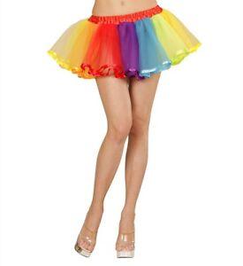 nuovo stile 3e316 c2745 Dettagli su Tutù arcobaleno gonna danza multicolore in tulle