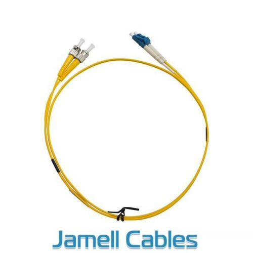 STLC OS1 Single Mode Duplex LSZH Fibre Patch Lead 1m