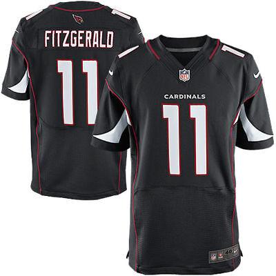 meet 2bbcf c0d7f Larry Fitzgerald #11 Arizona Cardinals Men's Black Home Game Jersey | eBay