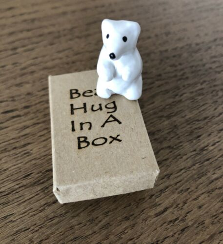 Bear Hug in a Box Small Gift Love Gift Special Unusual Gift, Sending Hugs