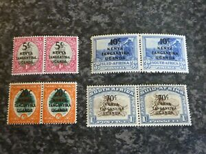 KUT-POSTAGE-amp-REVENUE-STAMPS-SG151-4-PAIRS-LIGHTLY-MOUNTED-MINT
