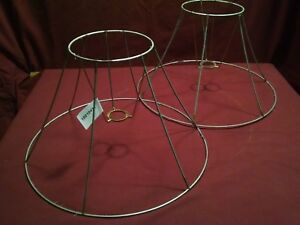 Vintage pair wire frame for lamp shade making restoration repair 15 image is loading vintage pair wire frame for lamp shade making greentooth Image collections