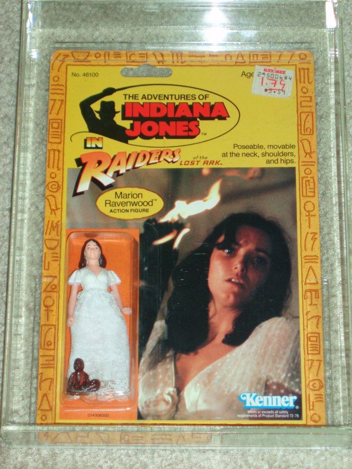 Vintage 1982 KENNER autoridad Figura de Acción 80 Marion Ravenwood Indiana Jones rojola 9 tarjeta trasera menta en tarjeta
