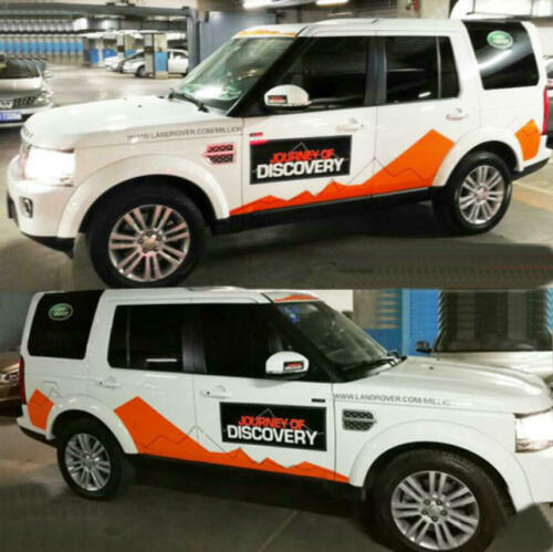 Graphics Mountain Sticker Decal Fit Land Rover Discovery Vinyl Side Door Skirt