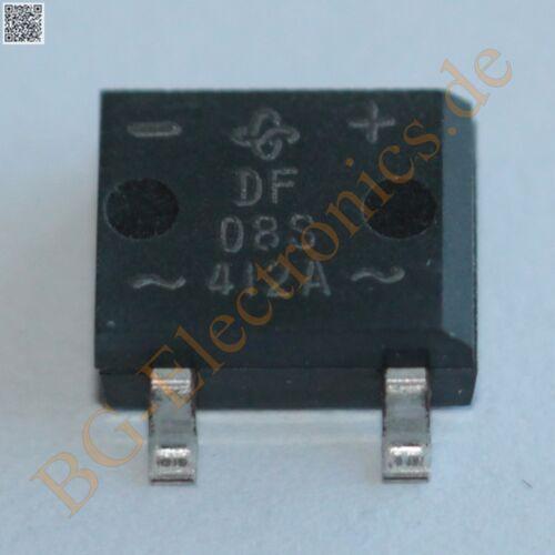 10 x df08s 1.5a//800v Bridge Rectifier generale S sdip 4 10pcs