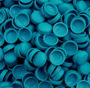 TWO PIECE DOME SCREW CAP COVERS SNAP CAPS PRO-DEC COVER FIXINGS * CASPIAN BLUE
