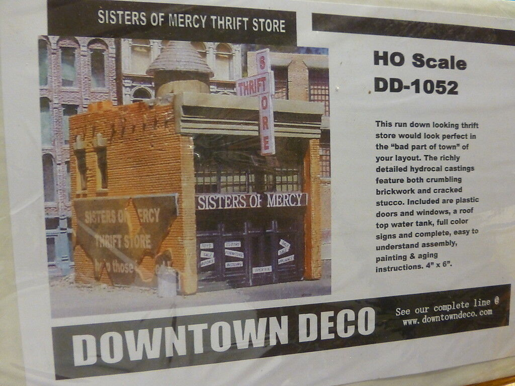 Downtown Deco HO  DD1052 Sister of Mercy Thrift Store (plaster kit) 4 x 6