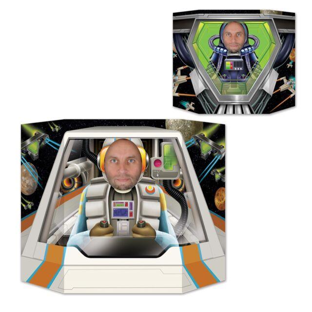 Space pilot 2 Sided Photo Prop - 94 x 64 cm - Astronaut Party Decoration