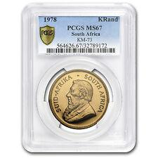 1978 South Africa 1 oz Gold Krugerrand MS-67 PCGS - SKU #114758