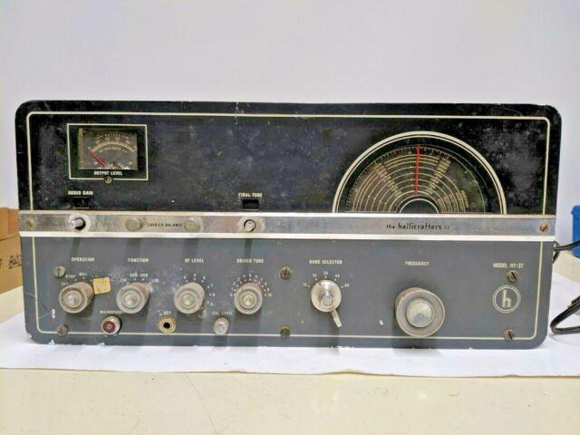 Hallicrafters Ht 37 Ham Radio Transmitter Clean Sn 337002 211154 For Sale Online Ebay