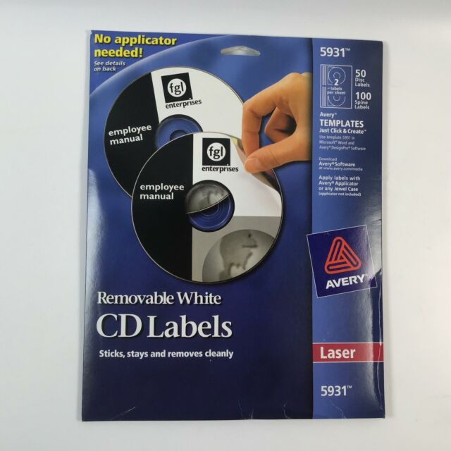 Avery 5931 Laser Labels Shuttered Jewel Case Inserts With